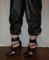 Alice + Olivia black leather sweatpants