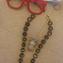 Super Ciccio eyeglasses, SWAROVSKI CRYSTAL DOT NECKLACE